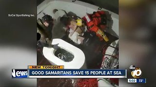 VIDEO: Good Samaritans save 15 people at sea