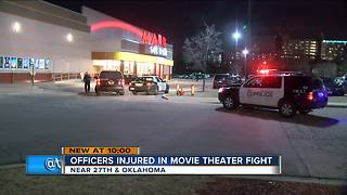 2 arrested, 2 Milwaukee Police officers injured after fight at South Gate Cinema - Video