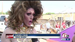 Drag queens take over Indy for Pride Parade - Video