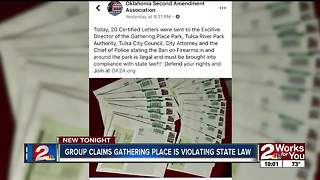 Group claims Gathering Place violating state laws