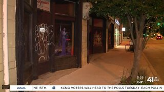 Graffiti marks Main Street after protests