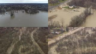 Macomb County residents deal with flooding from the Clinton River - Video