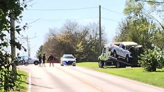 Man injured after police chase through two counties - Video