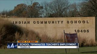 Indian Community School teacher fired after physically moving student - Video