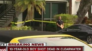 10-year-old boy shot dead in Clearwater - Video