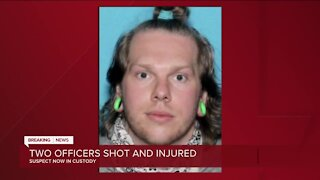 Suspect accused of shooting 2 police officers now in custody