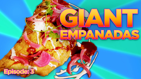 SUPER MASSIVE Deep-Fried Al Pastor Taco Pie Empanada with All the Fixins! | DFC