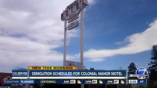 Demolition scheduled for next week for Colonial Manor Motel as part of Central 70 project - Video