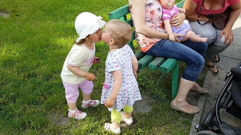 ADORABLE BABY Kisses and Hugs New Friend !!!