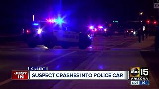 Man crashes into unmarked Gilbert police unit