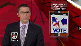 Michigan can't eliminate straight-party voting - Video