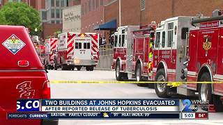 Hopkins medical buildings reopen after tuberculosis scare Thursday afternoon - Video