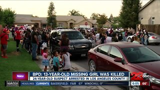 Bakersfield community holds vigil for 13-year-old that was killed
