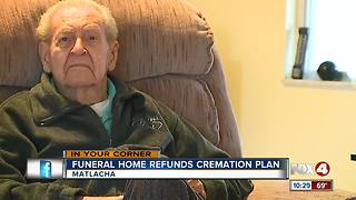 Funeral home refunds cremation plan - Video