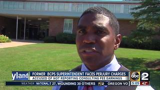 Former Baltimore County Schools Superintendent, Dallas Dance, charged with perjury - Video