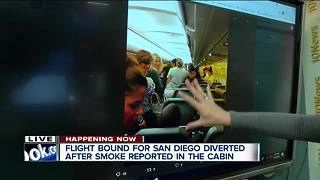 Frontier Airlines flight to San Diego makes emergency landing after report of smoke in cabin - Video