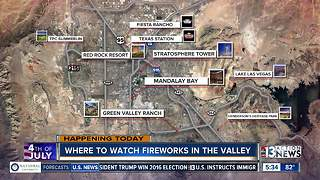Where to watch fireworks around Las Vegas - Video