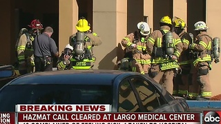 Largo Medical Center cleared after hazmat situation