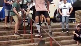 SKATEBOARD SLIDE FAIL...Right between the cheeks. - Video