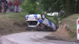 Insane compilation of high-speed rally car crashes - Video