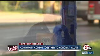 Southport community comes together to honor life of Lt. Aaron Allen - Video