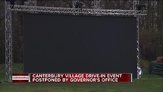 Canterbury Village drive-in event postponed by governor's office