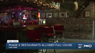 SWFL restaurants react to Governor's decision on capacity