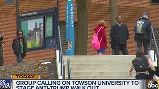 Group calls on Towson University students to stage anti-Trump walk out - Video