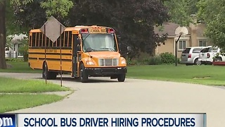 School bus driver hiring procedures