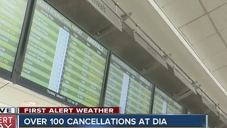 Denver International Airport: 145 flights cancelled due to snow storm - Video