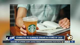 Starbucks to eliminate straws by 2020 - Video