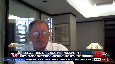 Legalities of vaccine passports, can a business require proof of vaccine