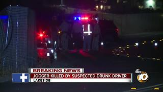 Jogger killed by suspected drunk driver - Video