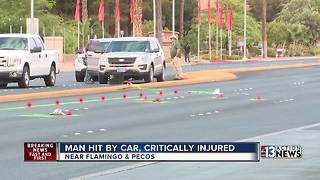 Man hit by car, critically injured after walking outside crosswalk