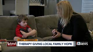 Previously non-verbal boy with is speaking with therapy - Video