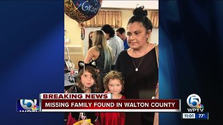 Missing Stuart family located safely in Walton County, police say - Video