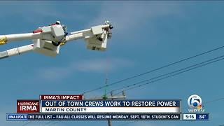 Out-of-town crews helping restore power