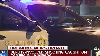 Deputy-involved shooting caught on camera in La Mirada - Video