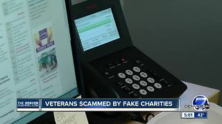 Veterans scammed by fake charities - Video