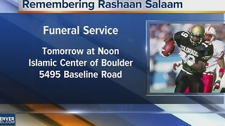 Public funeral service for Rashaan Salaam - Video