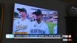 Local coach cheers on former student in All-Star game