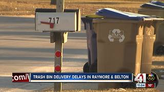 Raymore, Belton residents wait on new trash bins - Video
