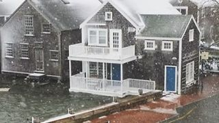 Downtown Nantucket Floods During Winter Storm - Video