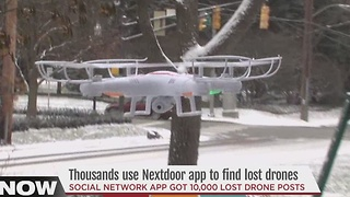 WATCH: Thousands use Nextdoor app to find lost drones - Video