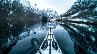 Awesome POV Kayak Footage Shows Crystal Clear Waters