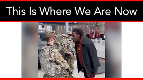 National Guard Harassed On The Street