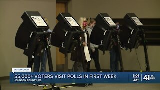 Big turnout for advance voting in JoCo