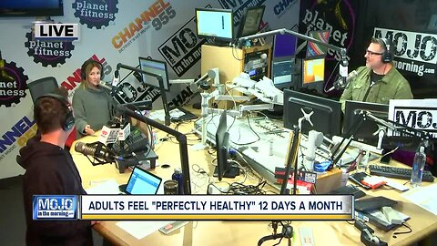 Mojo in the Morning: Adults feel 'perfectly healthy' 12 days a month