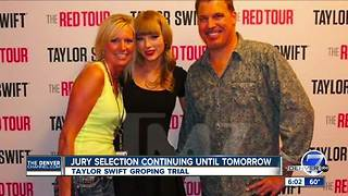 Jury selection in Taylor Swift trial to continue Tuesday morning
