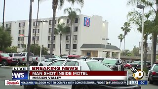 Police investigate shooting at Mission Valley motel